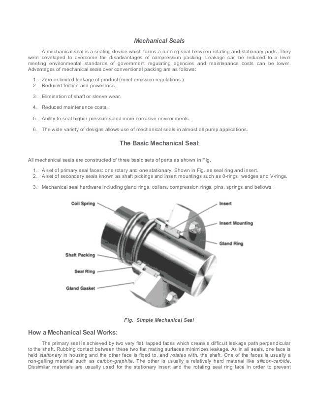1 seal mechanical seal