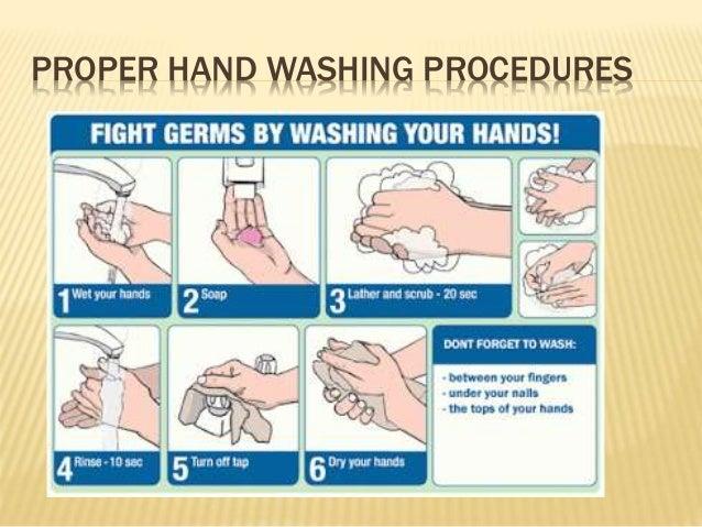 ... PROPER HAND WASHING PROCEDURES ...