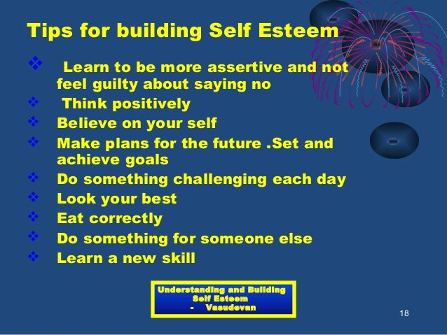 how to ask about self esteem