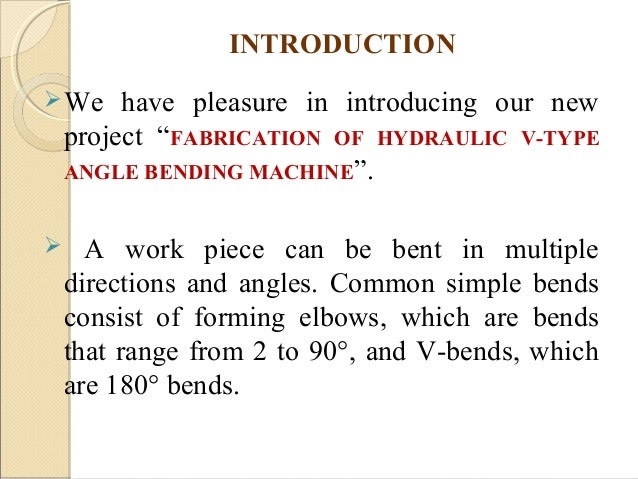 hydraulic vice project report pdf