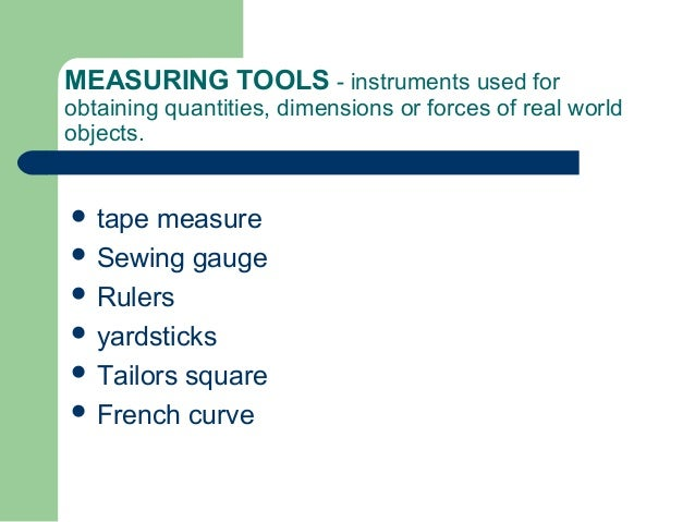 Used Measuring Instruments : Sewing tools and equipments