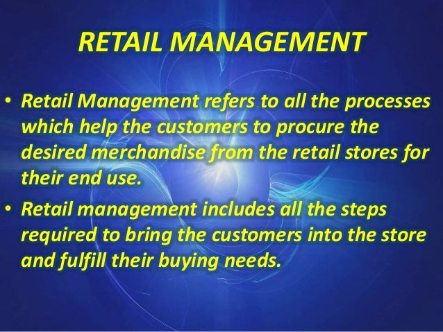 Functions of retail management