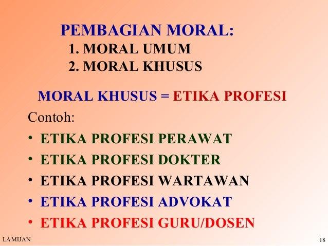 contoh etika dan contoh moral