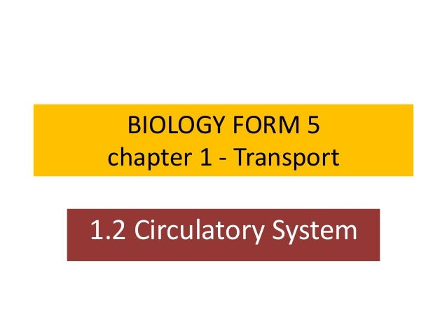 BIOLOGY FORM 5 chapter 1 - Transport 1.2 Circulatory System