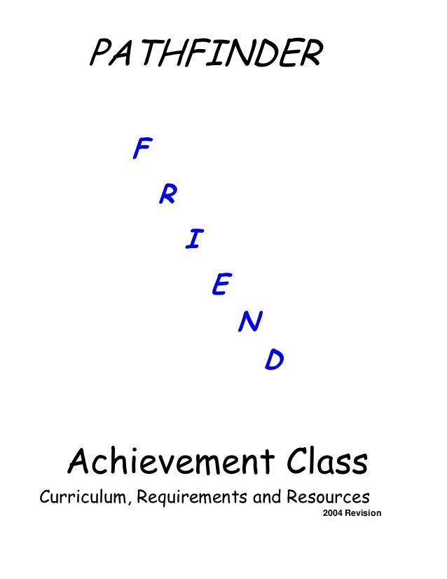 1 friend rh slideshare net Pathfinders SDA Friends Pathfinder Companion Class Badge