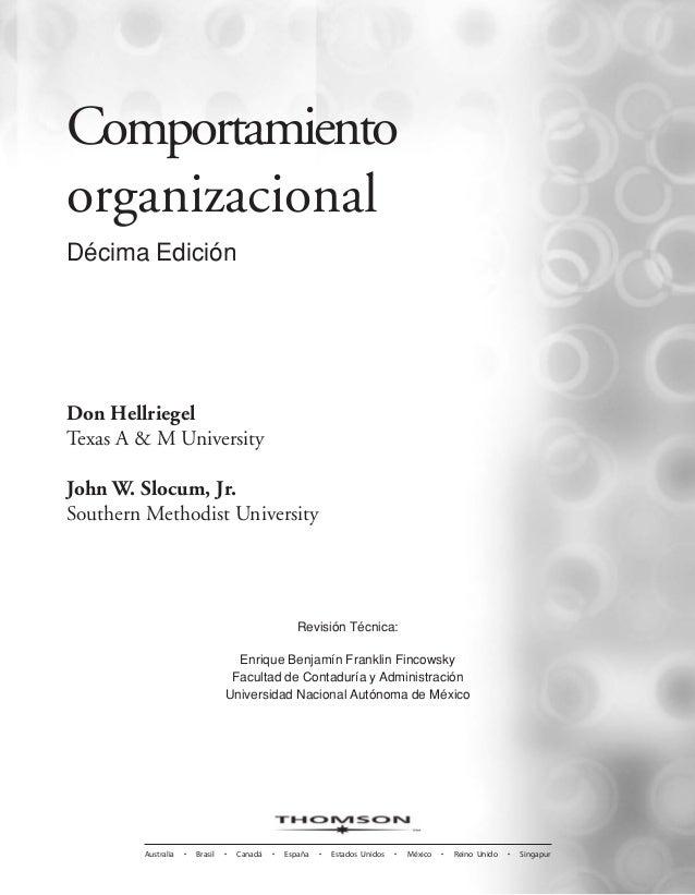 comportamiento organizacional hellriegel slocum 12 edicion