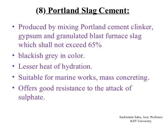 Portland Blast Furnace Cement : Cement ppt