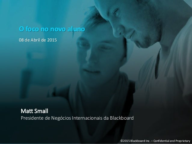 """O foco no novo aluno"", por Matthew Small - Blackboard Slide 2"