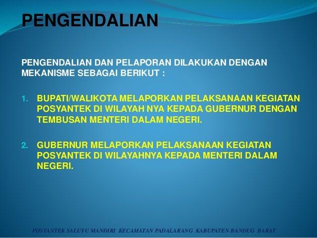 PENGENDALIAN PENGENDALIAN DAN PELAPORAN DILAKUKAN DENGAN MEKANISME SEBAGAI BERIKUT : 1. BUPATI/WALIKOTA MELAPORKAN PELAKSA...