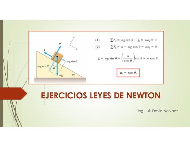EJERCICIOS LEYES DE NEWTON Ing. Luis David Narváez