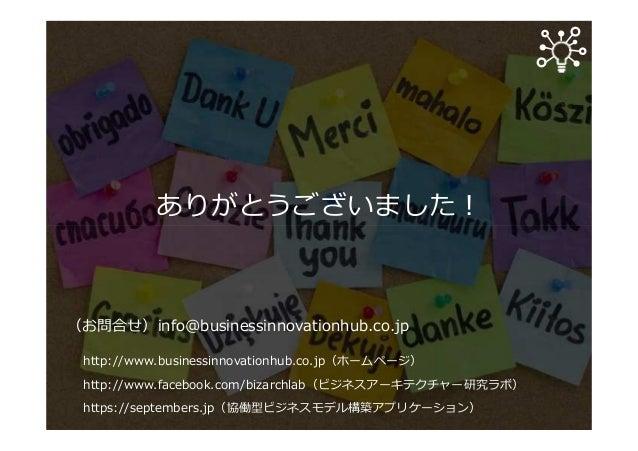 ありがとうございました︕ (お問合せ)info@businessinnovationhub.co.jp http://www.businessinnovationhub.co.jp(ホームページ) http://www.facebook.com...