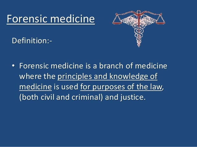 forensic medicine research papers