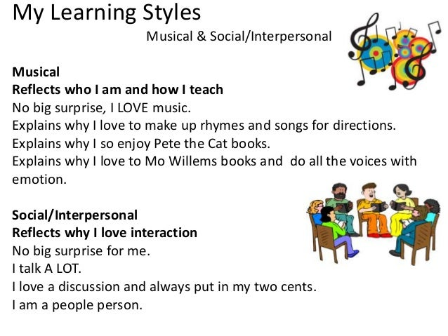 assignment learning styles How i learn: examining my personal learning style essay example 755 words | 4 pages after completing the discovery wheel and the learning style inventory assignments which are presented by the text book becoming a master student (ellis, 2006, pp 78-82), i discovered that i should trust my instinct now more than ever.