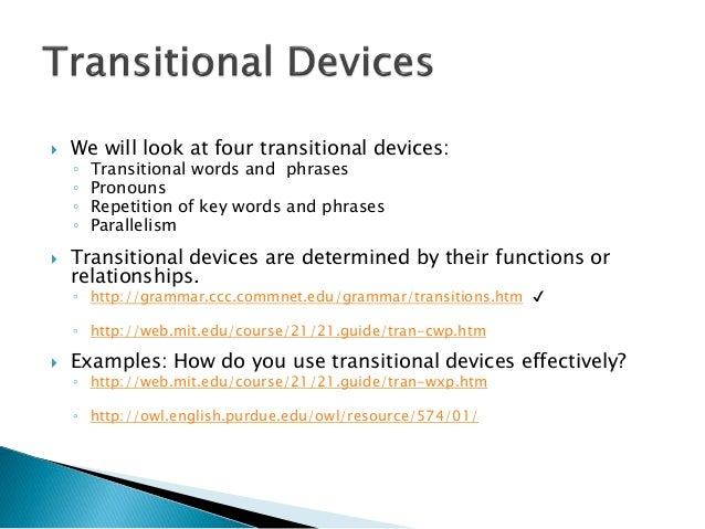 transition devices The following table illustrates the different devices that can be used during   phase 1: awareness and transition phase: the two-year period.