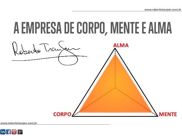 AEMPRESADECORPO,MENTEEALMA www.robertotranjan.com.br www.robertotranjan.com.br CORPO   MENTE   ALMA
