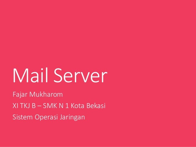 Mail server di Windows server 2008 dengan hMail