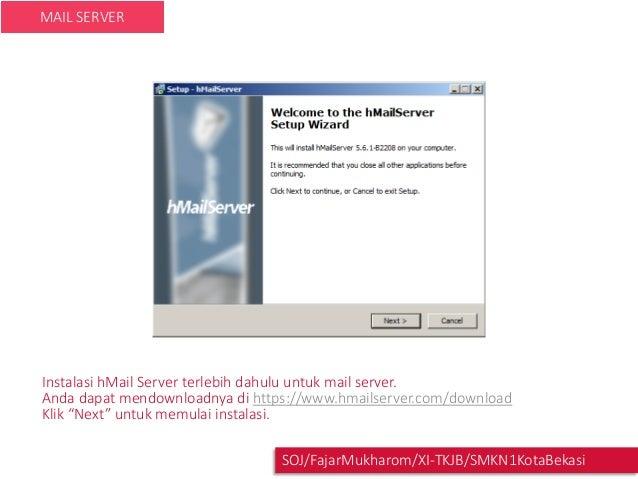 Mail server di Windows server 2008 dengan hMail