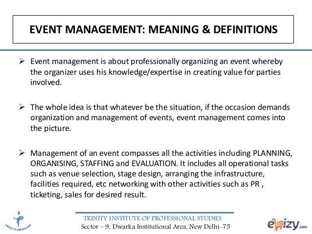 event management theory Wrathall & gee event management: theory and practiceisbn: 9780070279001 free delivery australia wide the campus bookstore, australia.