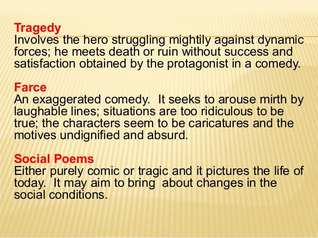 1 intro to the study of literature for Farcical comedy definition