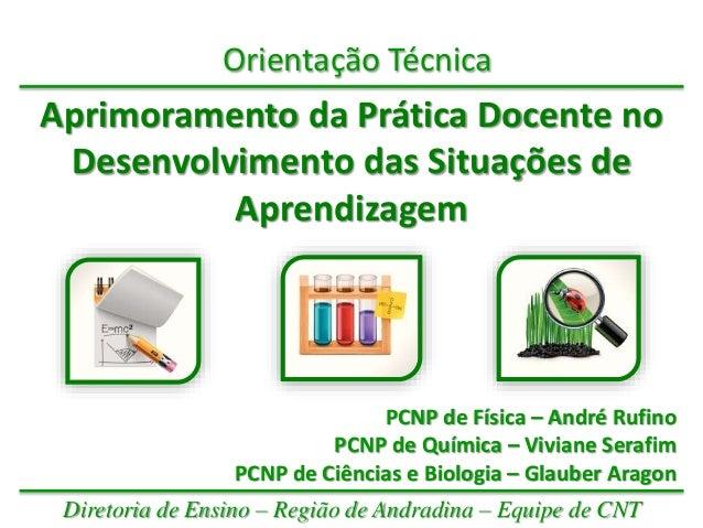Orientação Técnica Aprimoramento da Prática Docente no Desenvolvimento das Situações de Aprendizagem PCNP de Física – Andr...