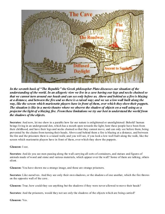 an analysis of allegory of the cave Free essay on analysis of plato's the allegory of the cave available totally free at echeatcom, the largest free essay community.