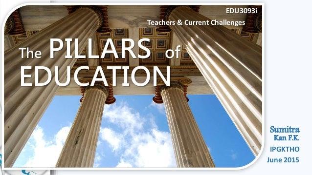 The PILLARS of EDUCATION EDU3093i Teachers & Current Challenges Sumitra Kan F.K. IPGKTHO June 2015