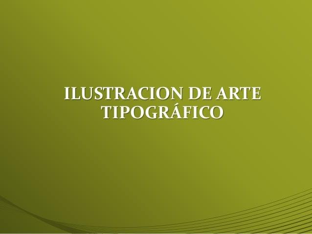 ILUSTRACIÓN TIPOGRÁFICA