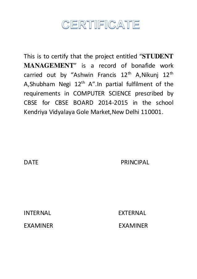 Certificate format for science project image collections certificate format for science project images certificate design certificate format for science project choice image certificate yadclub Images