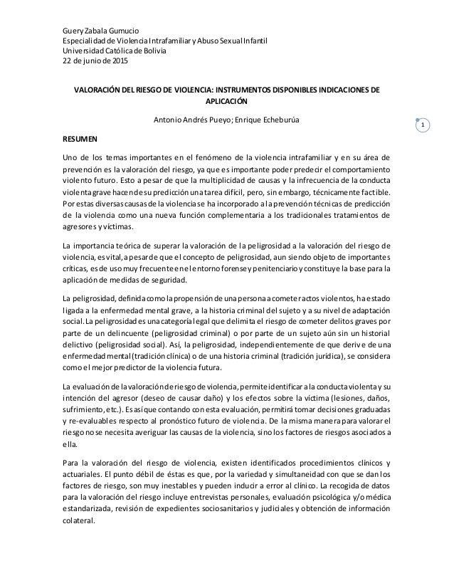 GueryZabala Gumucio Especialidadde ViolenciaIntrafamiliaryAbusoSexual Infantil UniversidadCatólicade Bolivia 22 de juniode...