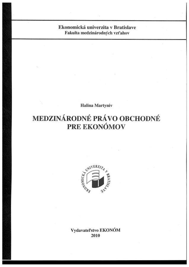 International Business Law; 1.part