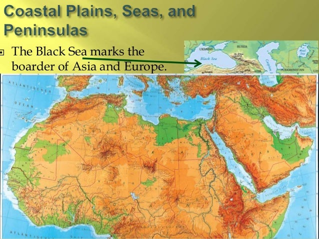 Middle East Map Rivers And Seas