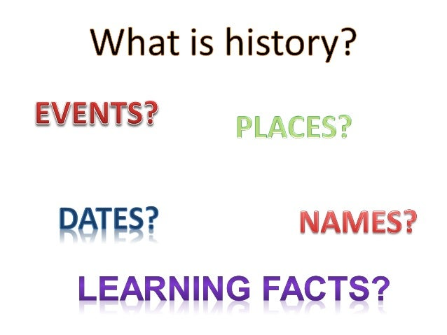 1. what is history
