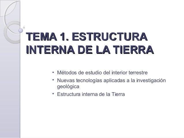 1 Origen Y Estructura De La Tierra Eat 2015