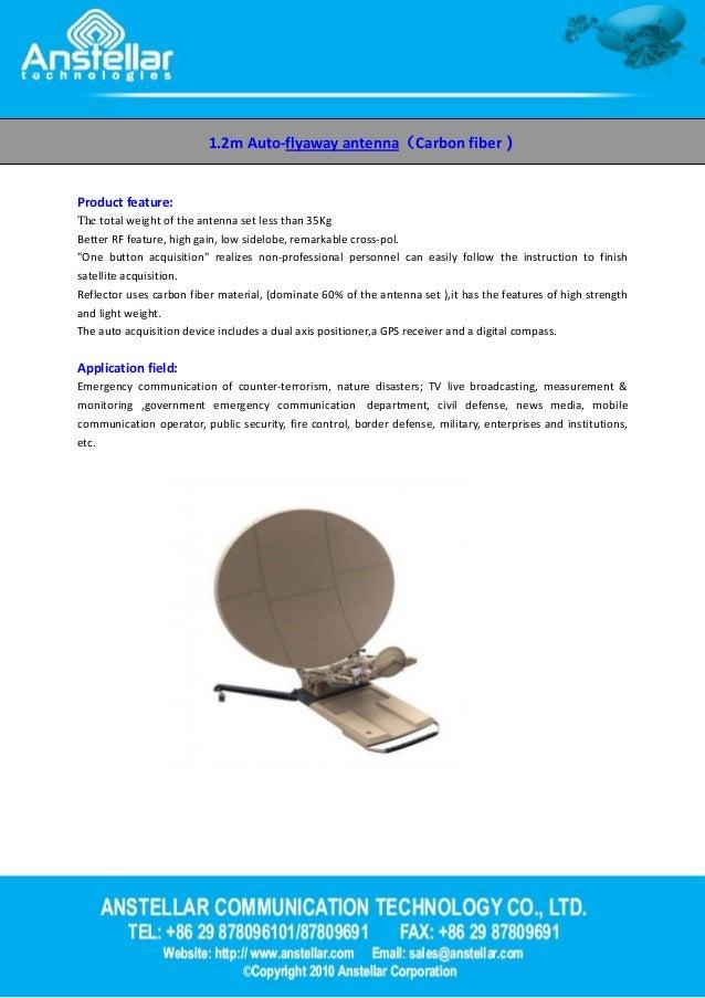 1 2m auto flyaway antenna -Anstellar