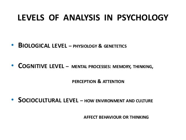 The Three Levels of Analysis in International Relations