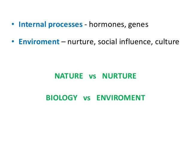 human behavior genes or enviroment The role of genes in the development of behavior the debate concerning the influence of genes on human behavior has been on-going for centuries.