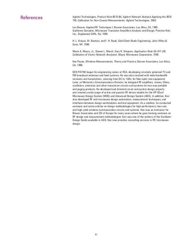 Agilent Network Simulator : Vip agilent