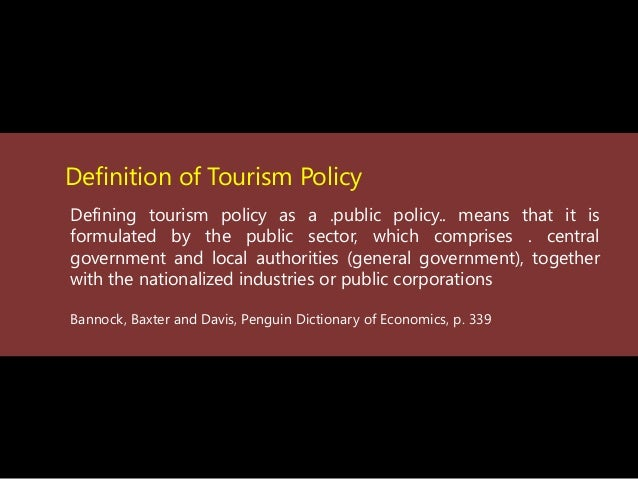 national tourism organisation definition