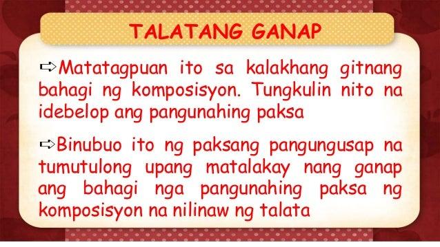 halimbawa ng panimulang talata Contextual translation of halimbawa ng talata na may panimula into english  human translations with examples: tagalog, examples paragraph.