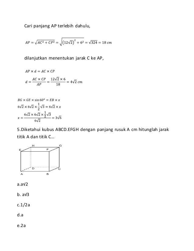 Soal Dan Pembahasan Geometri Dan Trigonometri