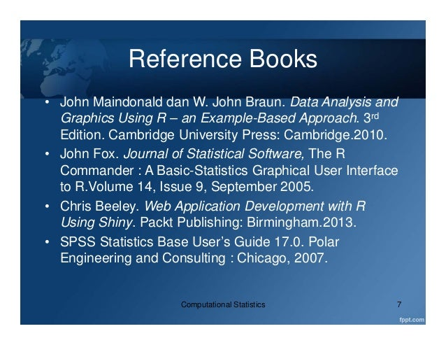Introduction to Computational Statistics