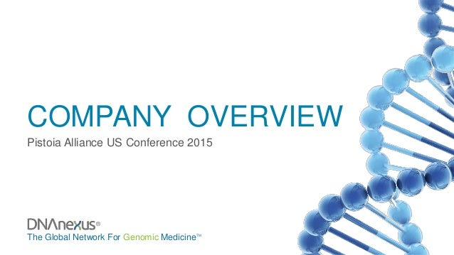 The Global Network For Genomic MedicineTM ® COMPANY OVERVIEW Pistoia Alliance US Conference 2015