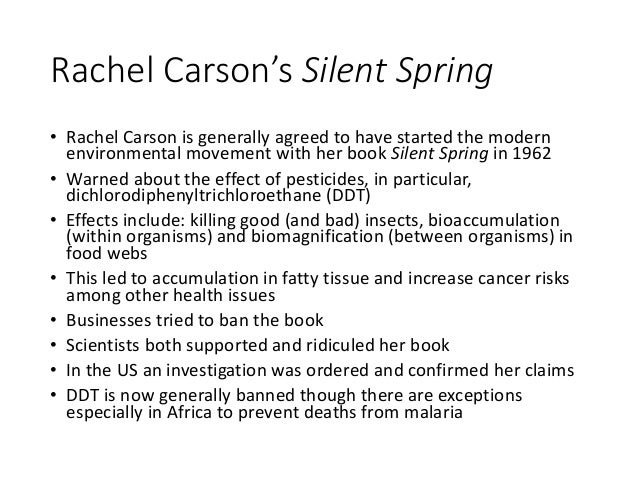 silent spring a summary Silent spring study guide contains a biography of rachel carson, literature essays, quiz questions, major themes, characters, and a full summary and analysis about silent spring silent spring summary.