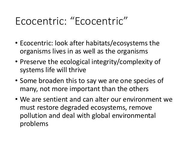 1.1 Environmental value systems