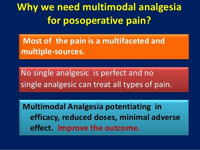 surgical pain relief multimodal analgesia and paracetamol Current medical research and opinion  principles of analgesic use in the treatment of acute pain and chronic cancer pain, 2nd edition  multimodal analgesia .