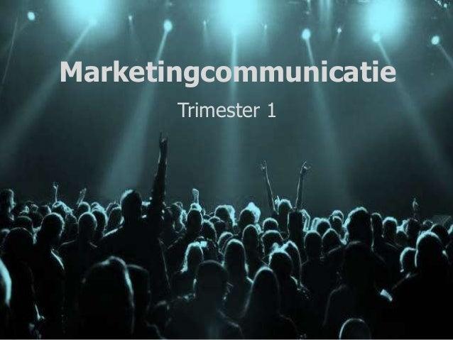 Marketingcommunicatie Trimester 1