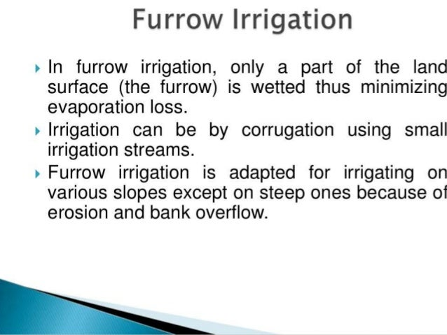 Top 3 Methods of Irrigation (With Diagram)