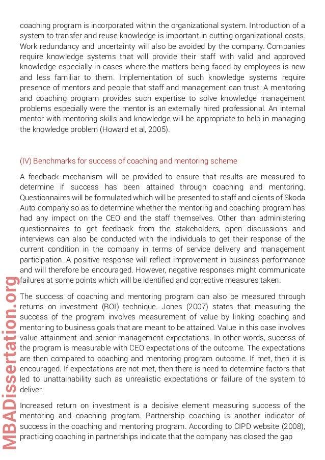 Dissertation coaching services