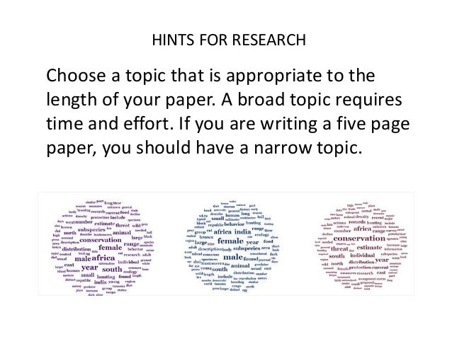 broad topics for research papers
