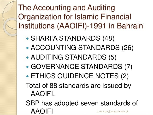 Accounting Auditing Governance Standards For Islamic Financial Institutions